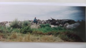 Chris's 160 acre homestead SE of White City as seen in 1999 as seen by his brother's great grandson, Roger Humbke