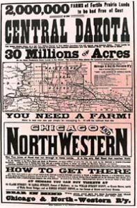 NW Railroad Ad for homesteaders