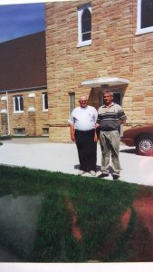 Roger with Pastor at Immanuel Lutheran Church - July 1999