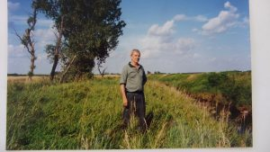 Roger on Grandfathers land in Iowa