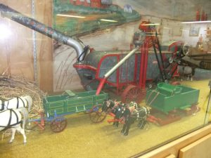 Display of Threshing at Camrose Museum