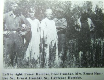 L to R Ernest Jr., Elsie, Mary, Ernest Sr. & Lawrence Humbke