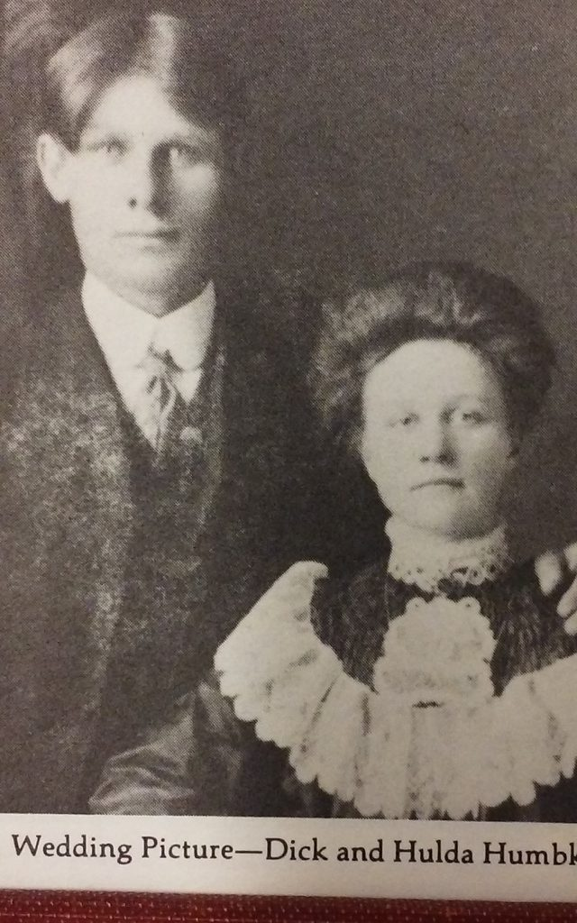 Dick & Hulda (Wickland) Humbke marriage on 24APR1907 at Swedish Lutheran Church in Wetaskiwin, AB