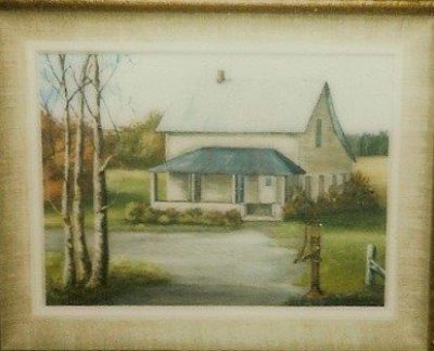 Myrtle (Humbke) Johnson painting of 1924 Dick and Hulda Humbke's home in Zolof Springs, Wauchola, Florida